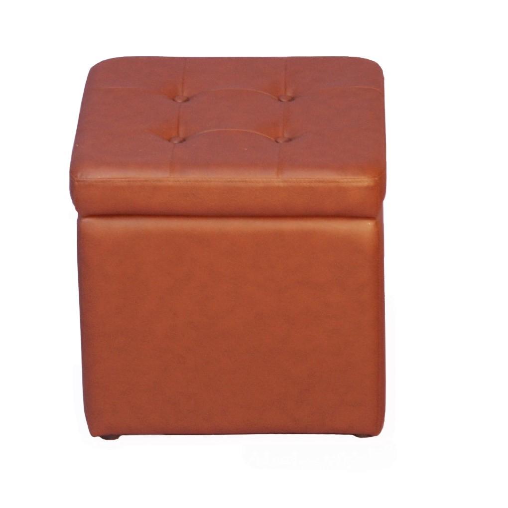 Sitzwürfel Classic – Kunstleder Braun, Home Design günstig kaufen