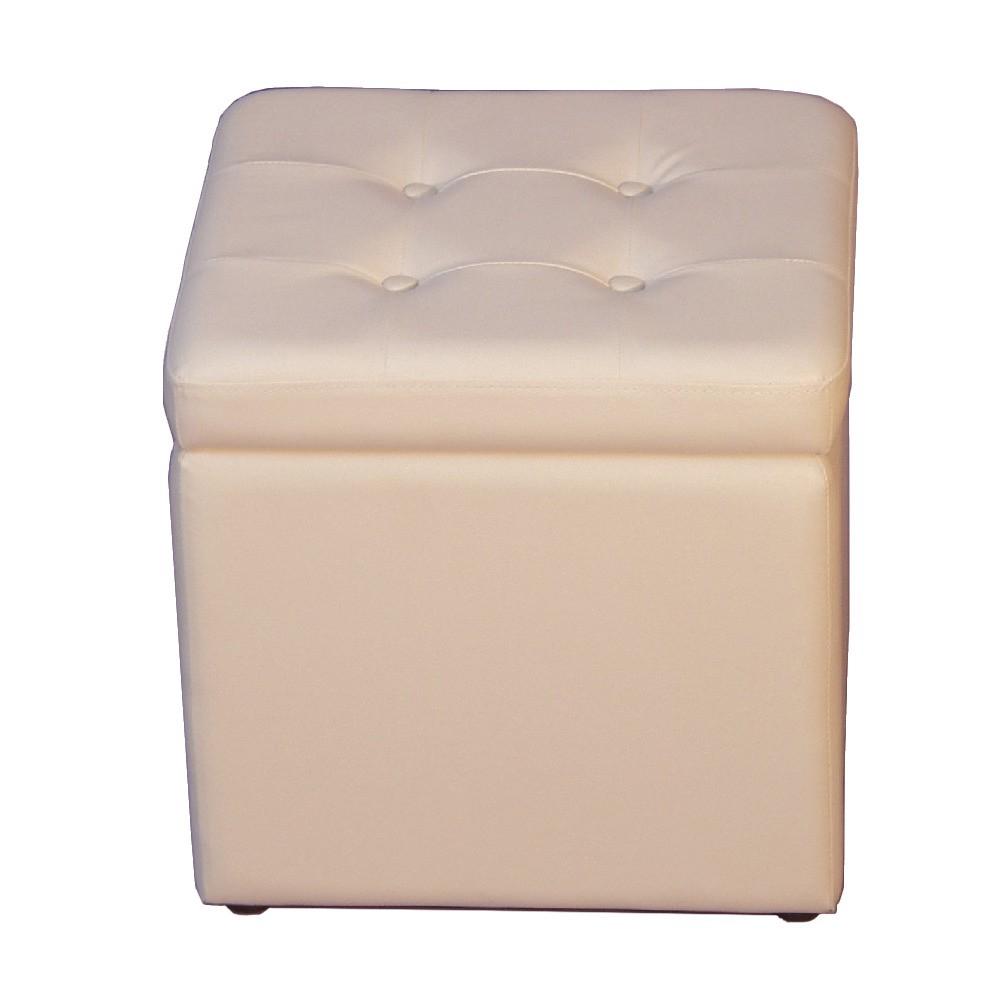 Sitzwürfel Classic – Kunstleder Weiß, Home Design bestellen