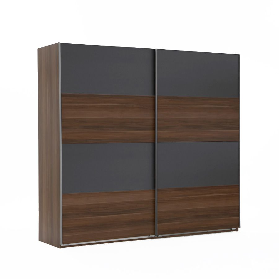 schwebet renschrank easy plus a franz sisch nussbaum dekor anthrazit schrankbreite 135 cm. Black Bedroom Furniture Sets. Home Design Ideas