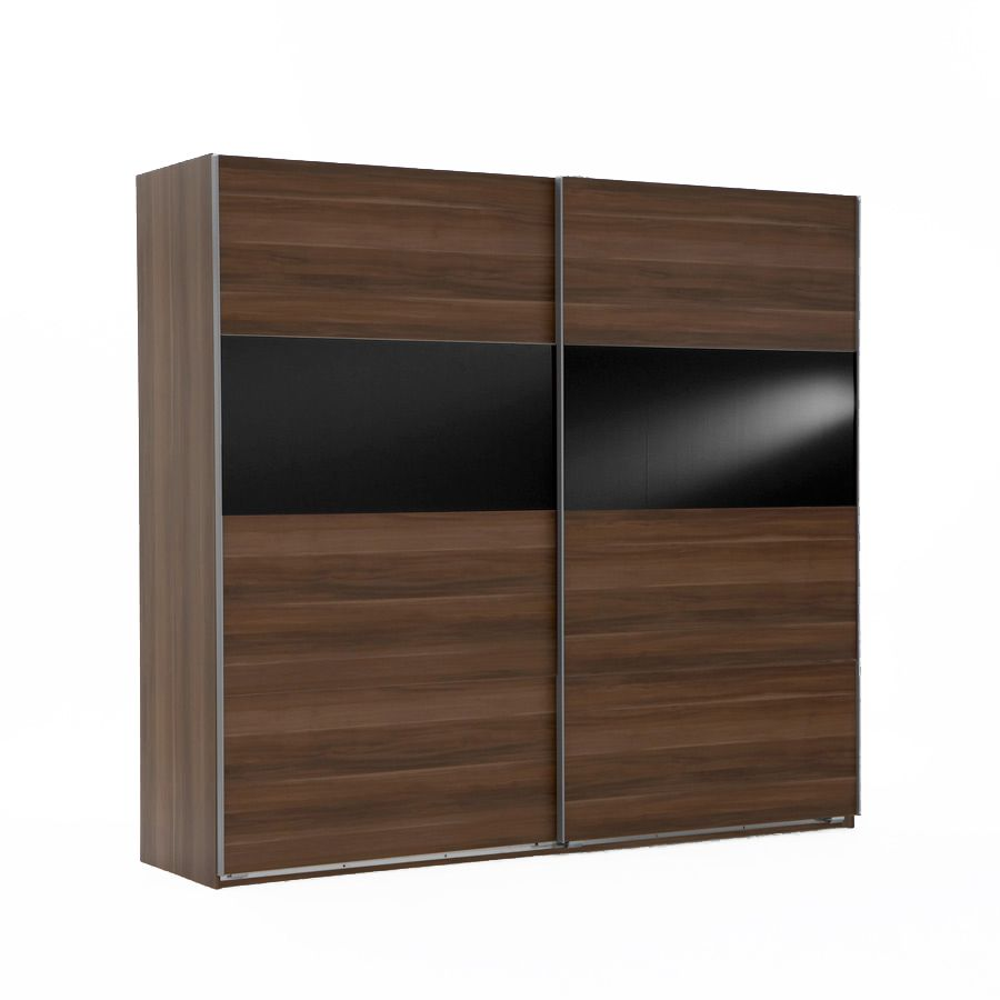 kingston c schwebet renschrank franz sisch nussbaum schwarzglas einlage 313x210x65 schrank. Black Bedroom Furniture Sets. Home Design Ideas