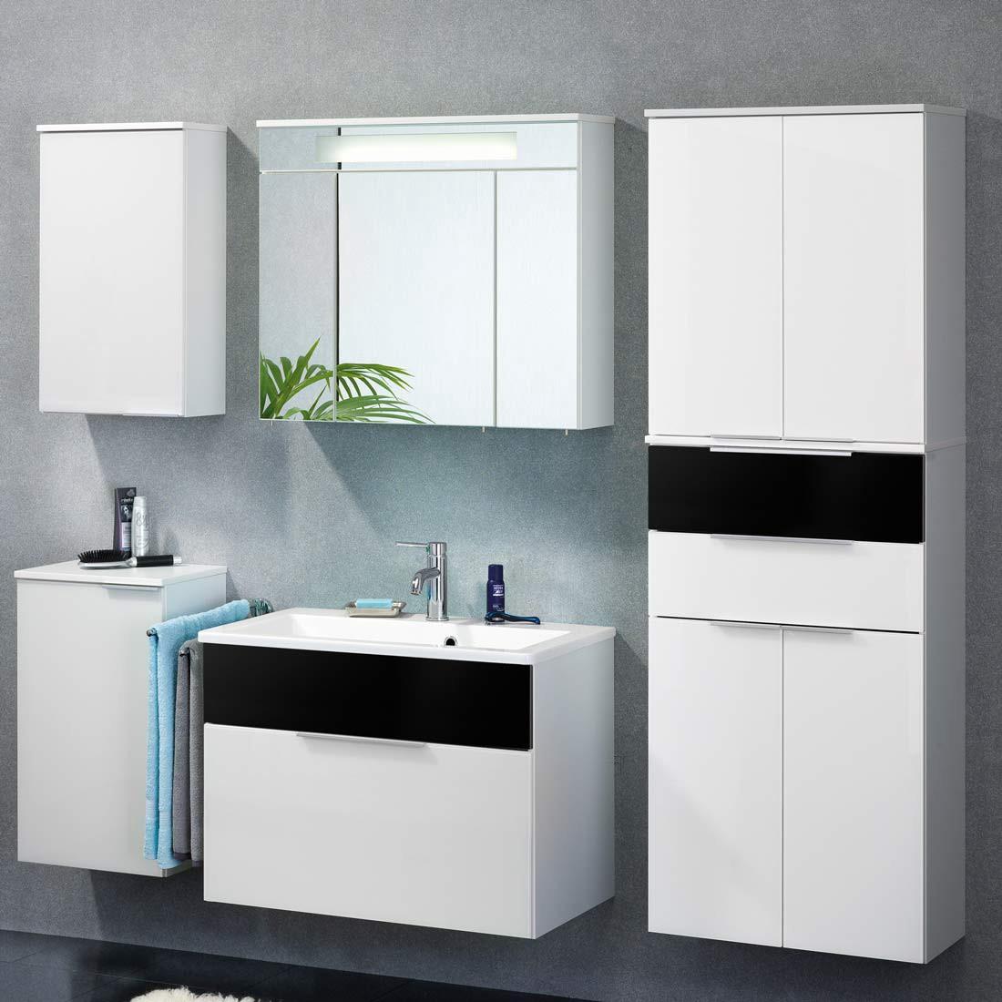 kara 2 badezimmerset wei 4er set. Black Bedroom Furniture Sets. Home Design Ideas