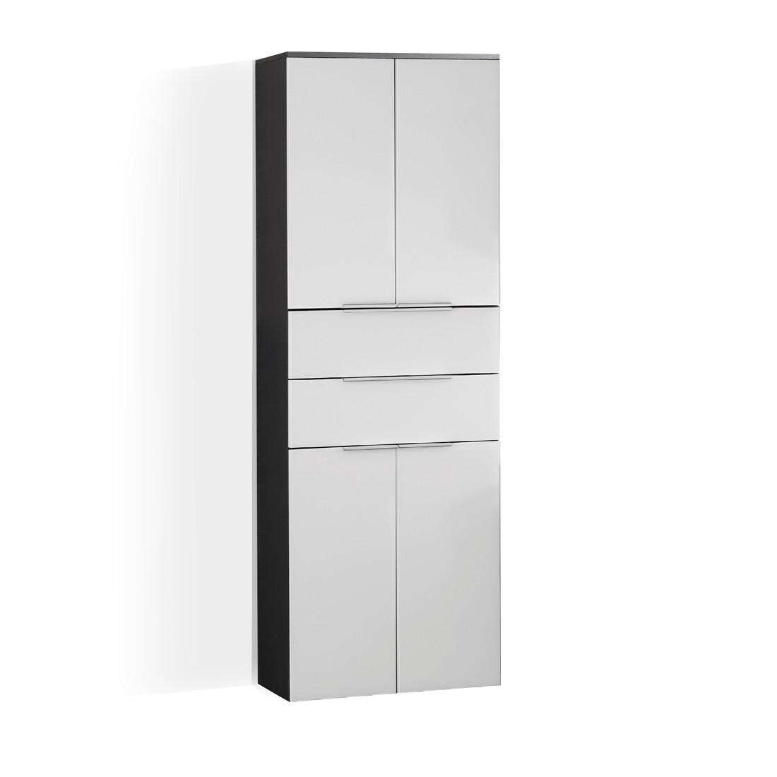 Kara Hochschrank - Weiß/Anthrazit