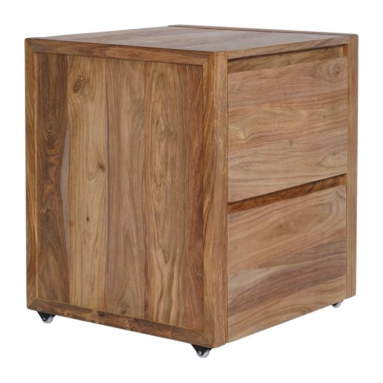 rollcontainer nature massivholz sheesham. Black Bedroom Furniture Sets. Home Design Ideas