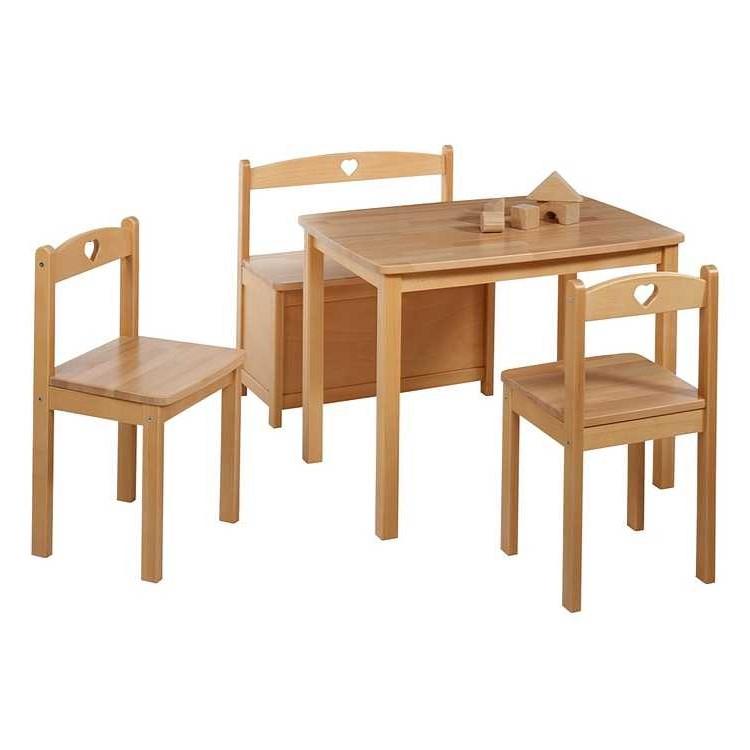 Sitzgruppe Kids (4-teilig) – Buche – Natur – Lackiert, Schardt günstig kaufen