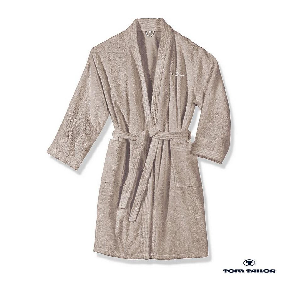 Frottier Kimono Bademantel – Sand – XXL, Tom Tailor online kaufen
