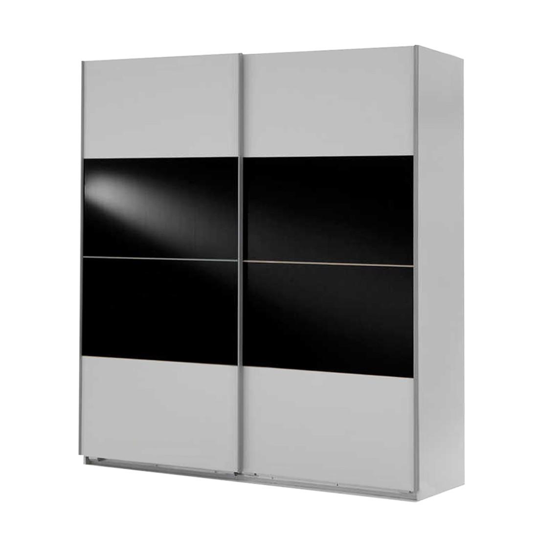 schwebet renschrank kingston c alpinwei schwarzglas. Black Bedroom Furniture Sets. Home Design Ideas