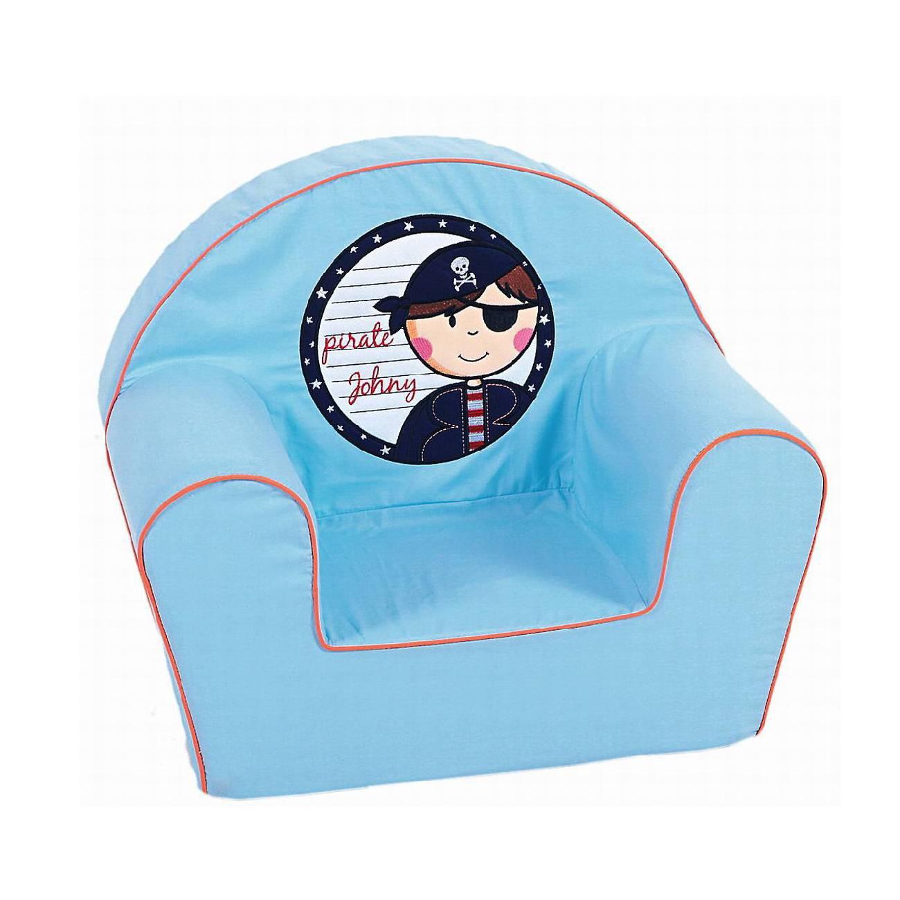 Sessel Pirat Mini – 100% Baumwolle – Blau/Piratenmotiv, knorr-baby jetzt bestellen