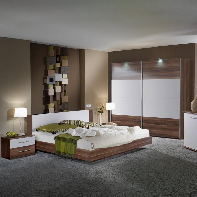 Komplettset Nora (4-teilig) – Nussbaum Dekor/Weiß – Set mit Bett: 160 x 200 cm, Wimex bestellen