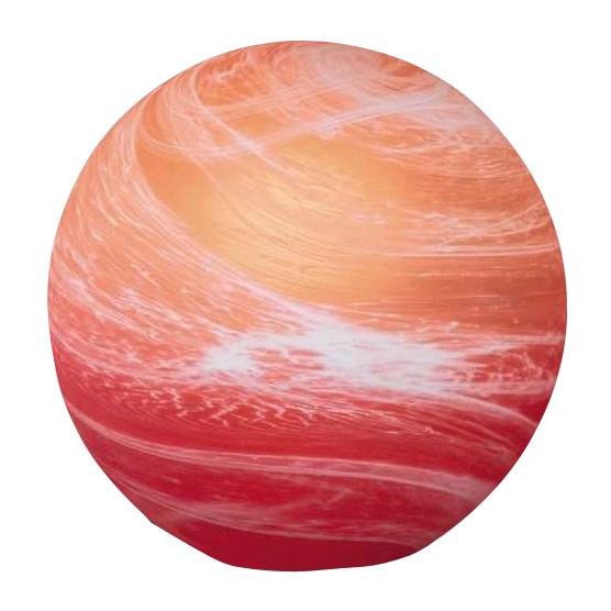 Tischleuchte Kugel - Sparlampe 11 W - Orange-Rot, Honsel