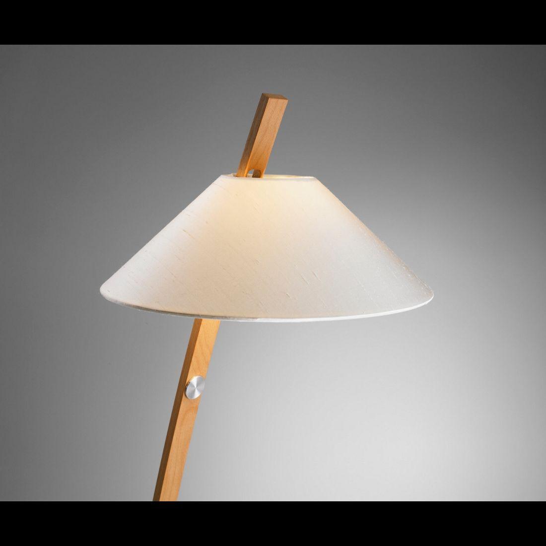 Leseleuchte Bow - Maron - Schirm: Leder Schwarz, Domus