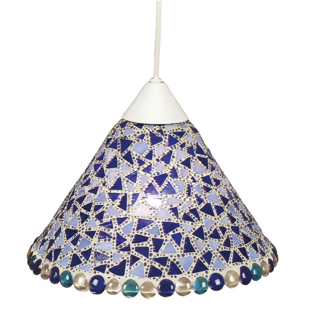 Mosaik-Pendelleuchte - Blau, Lux