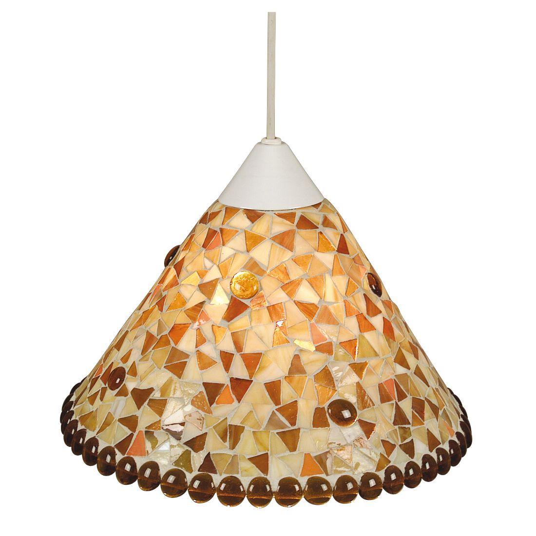 Mosaik-Pendelleuchte - Apricot, Lux