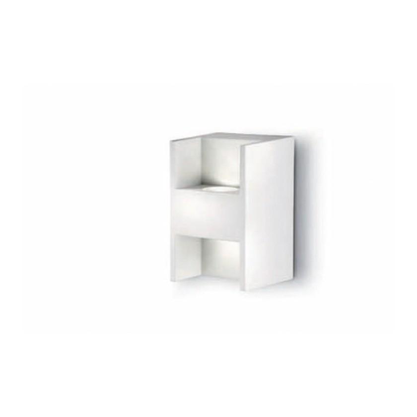 EEK A+, Wandleuchte Energiespar – 2-flammig – LED – rechteckig – Kippschalter – Metall/Weiß, Philips jetzt kaufen