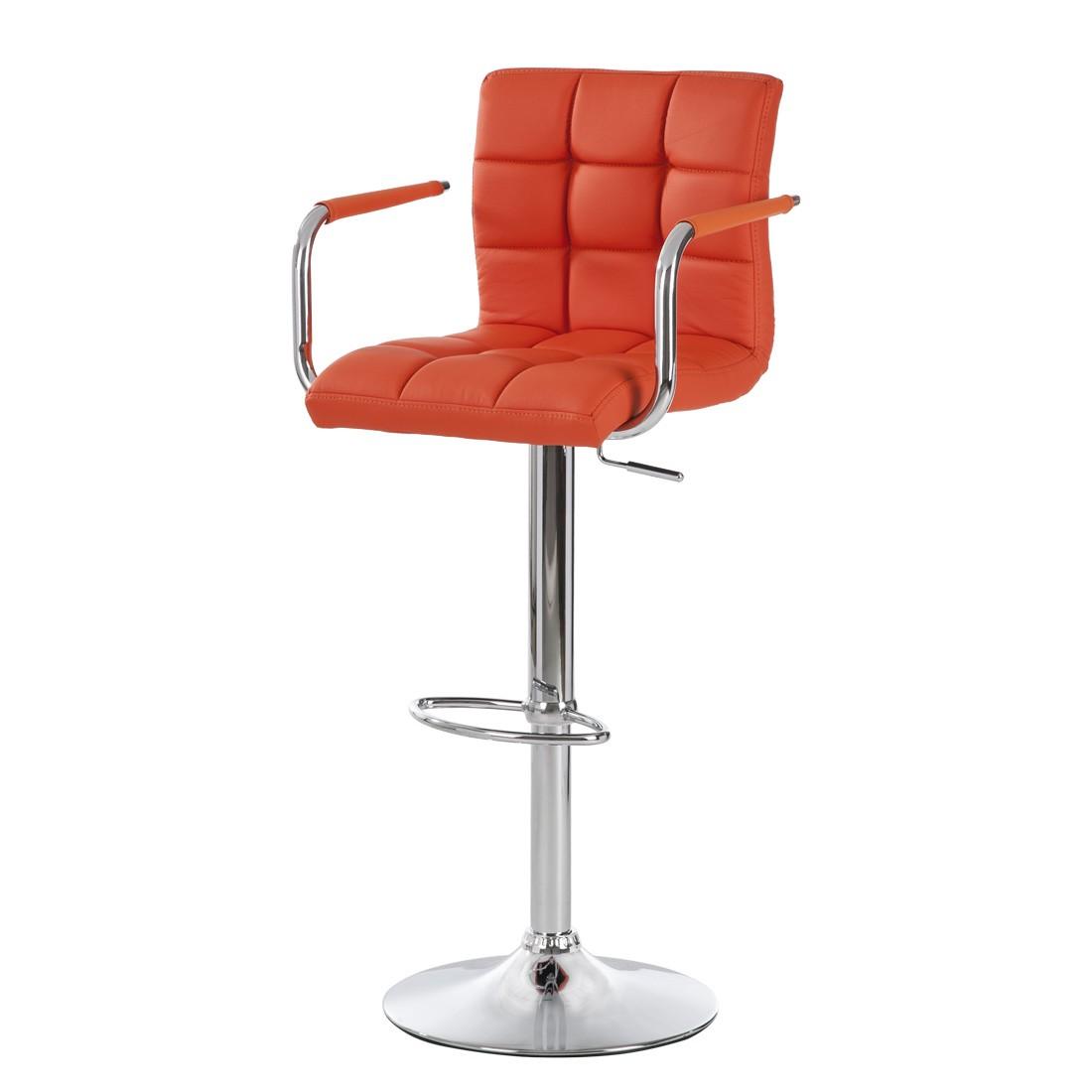 Barhocker Fitzgerald II – Kunstleder Orange, Fredriks jetzt kaufen
