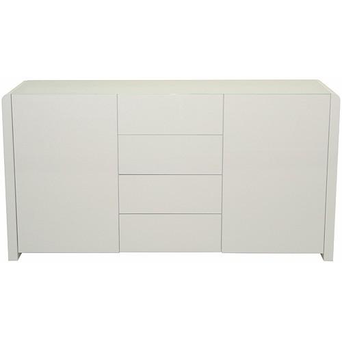 sideboard leonardo wei hochglanz 2 t ren. Black Bedroom Furniture Sets. Home Design Ideas