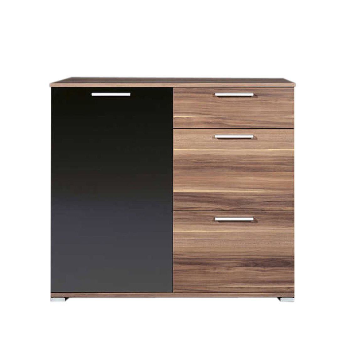 limi kommode klein walnuss nachbildung schwarz. Black Bedroom Furniture Sets. Home Design Ideas