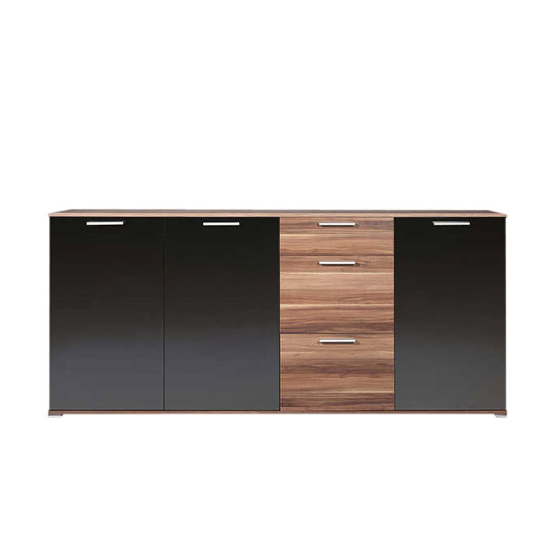 sideboard limi walnuss schwarz. Black Bedroom Furniture Sets. Home Design Ideas