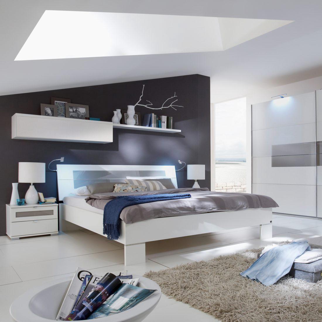 Schlafzimmerkombination Advantage (4-teilig) – Alpinweiß/Sandgrau/Glas Grau, fresh to go günstig kaufen