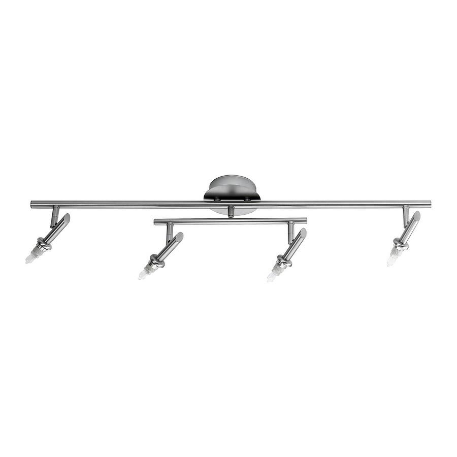 EEK C, Deckenbalken-m6 - ohne Glas - 4-flammig - Halogen LED Pendelleuchte M6 Licht / LED 1 - Nickel - 6-flammig, Fischer Leuchten