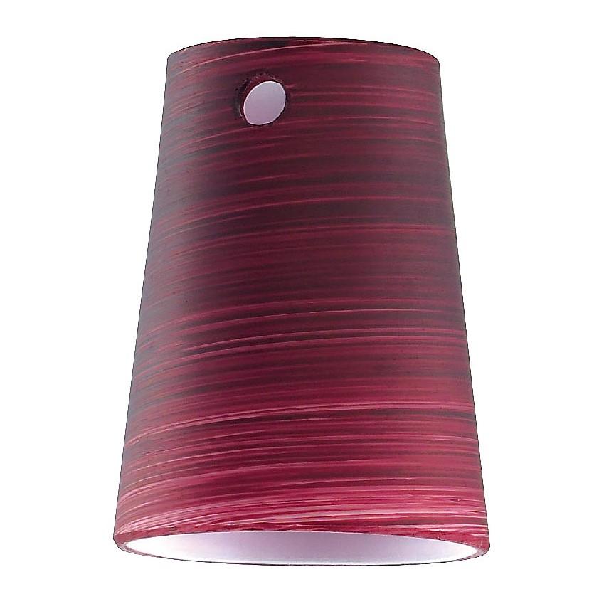 Glas-m6 ● Kegel ● Brombeerfarben gewischt ● passend für spot 1/5/6/9- Fischer Leuchten