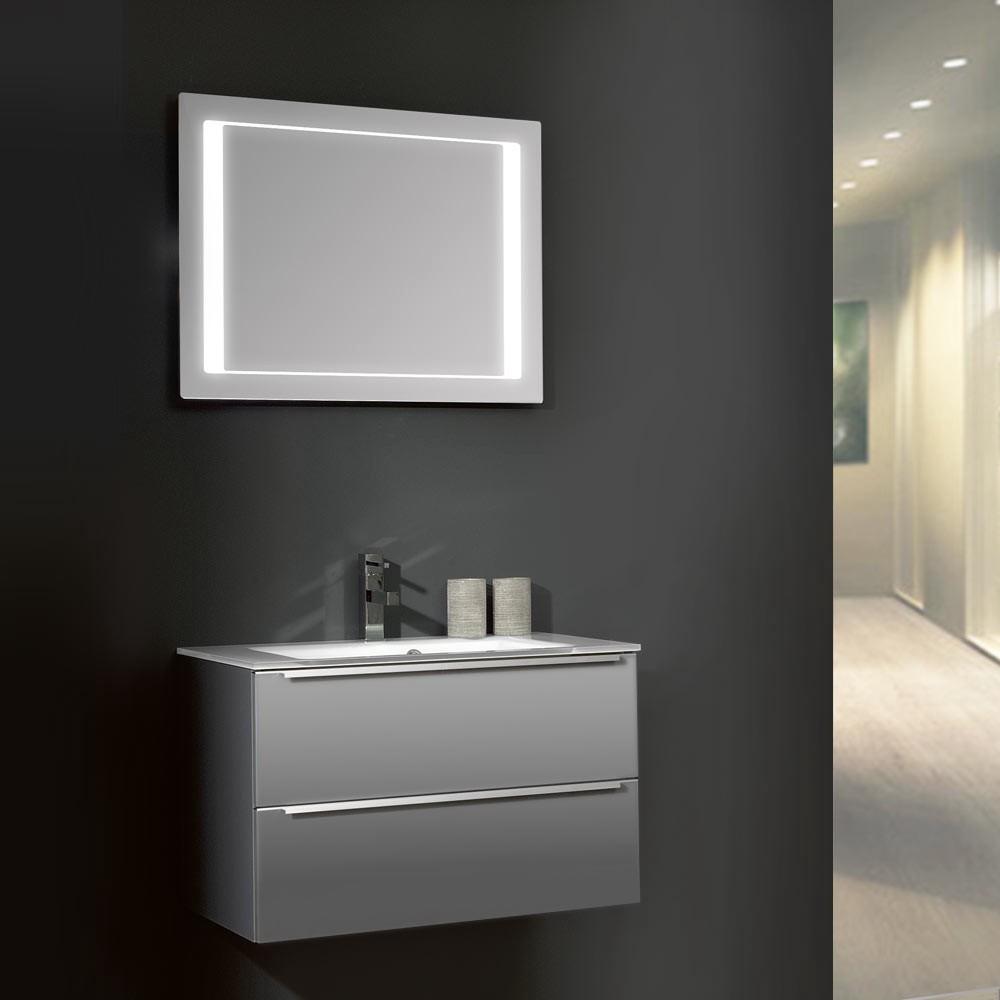 waschplatz magic 21 mit glasbecken grau hochglanz. Black Bedroom Furniture Sets. Home Design Ideas