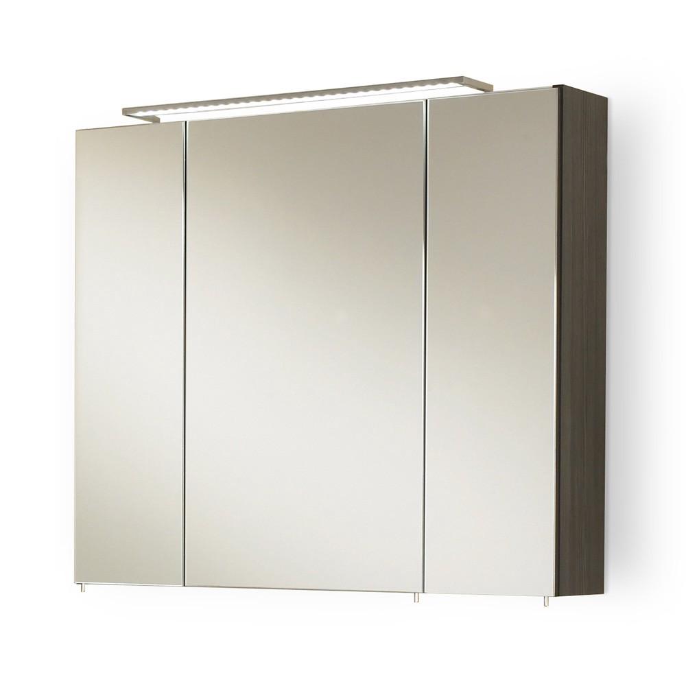 Spiegelschrank Markham - inklusive Beleuchtung - Anthrazit (Markham Spiegelschrank - Pinie/Anthrazit)