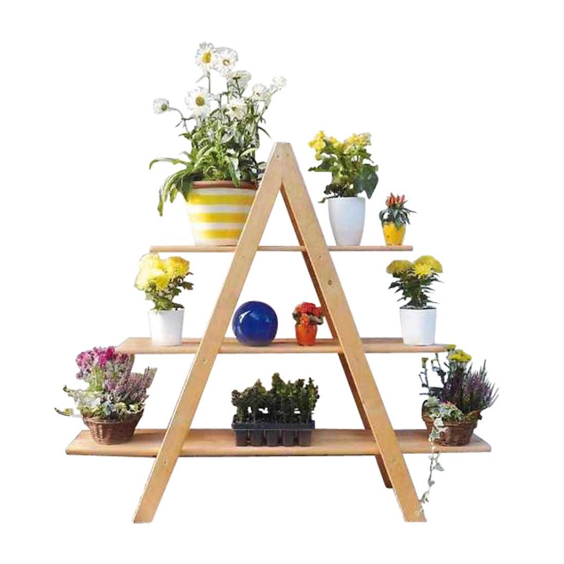 Blumenleiter Maxi – Kiefer/Massiv, Promex günstig kaufen