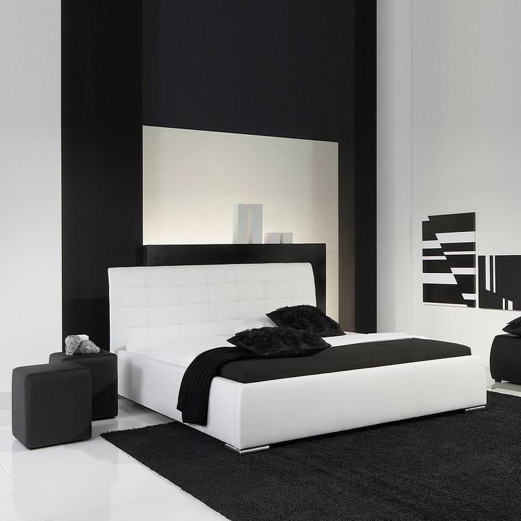 Polsterbett Clou – Kunstleder – 180 x 200cm – Weiß, meise.möbel online kaufen