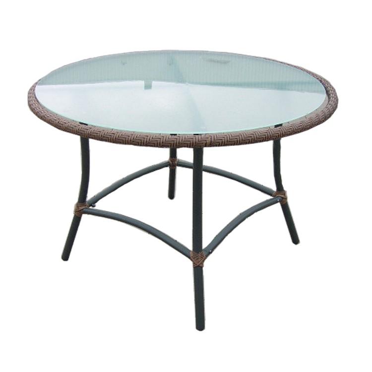 Gartentisch Ravenna - Aluminium/Glas - Schwarz/Milchig, Merxx