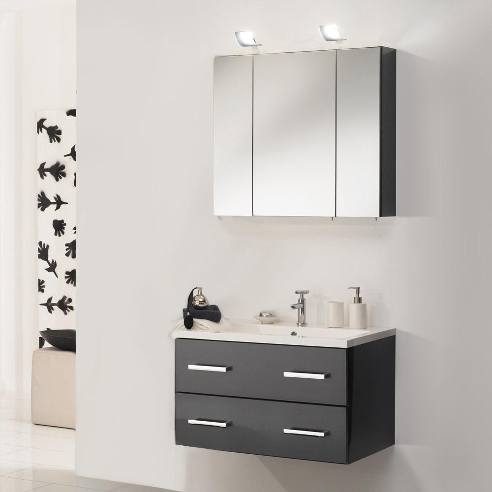 Waschplatz montreal inklusive becken spiegelschrank for Spiegelschrank anthrazit