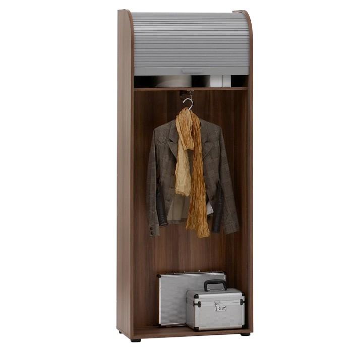 Regal- oder Kleiderschrank Myntra - mit Jalousietür - Zwetschge Dekor