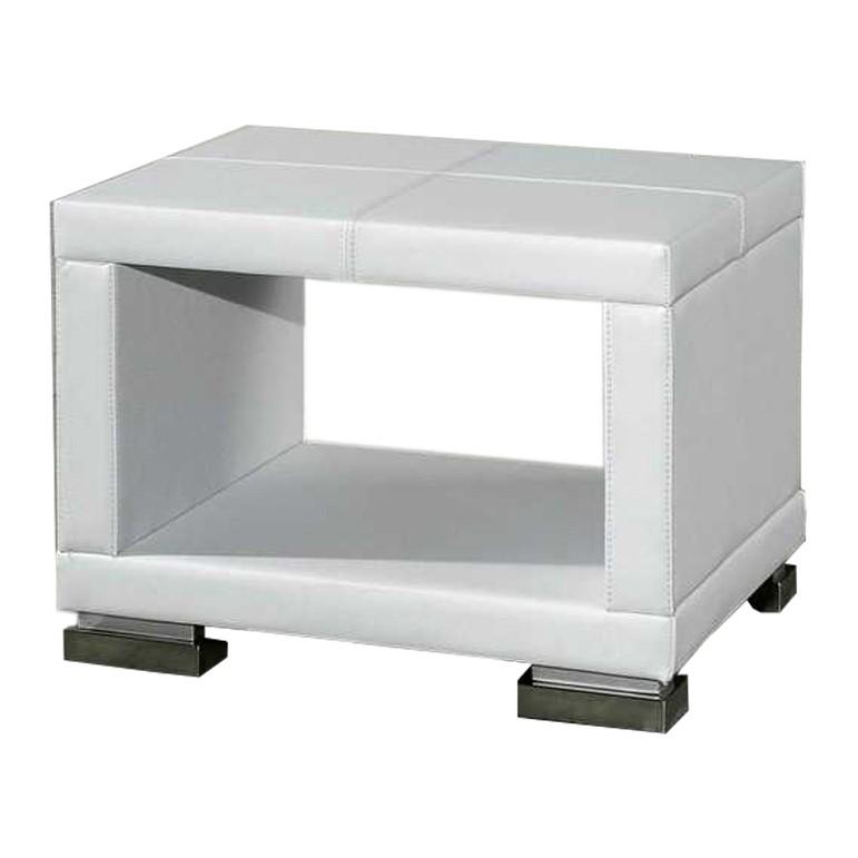 Nachtkonsole Paso – Kunstleder – Weiß, meise.möbel jetzt bestellen