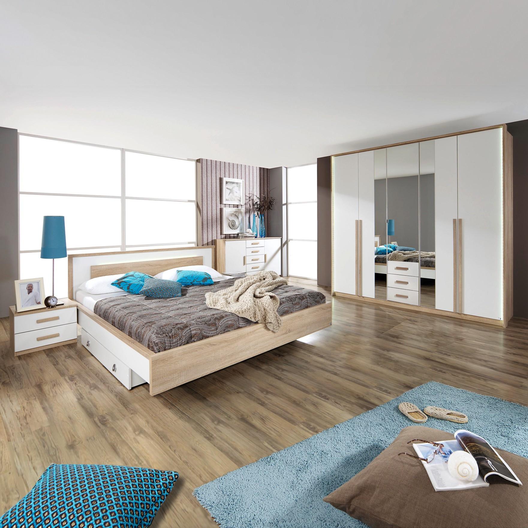 Schlafzimmerset Nancy – Set mit Bett 160x200cm, Rauch Pack´s kaufen