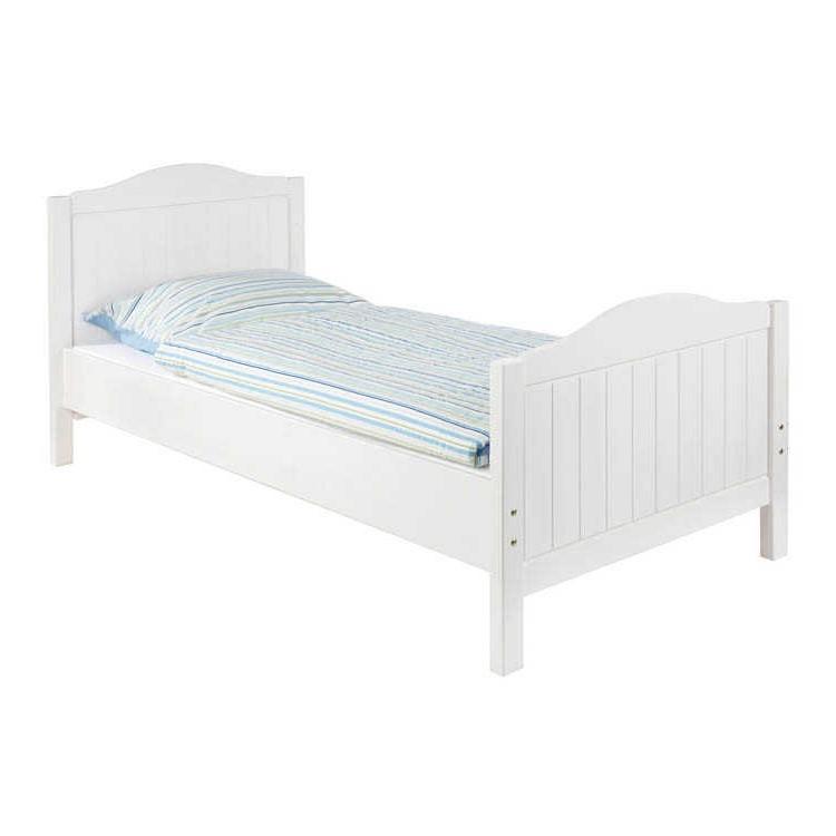 Einzelbett Nina - Fichte massiv - Weiß lasiert, Pinolino