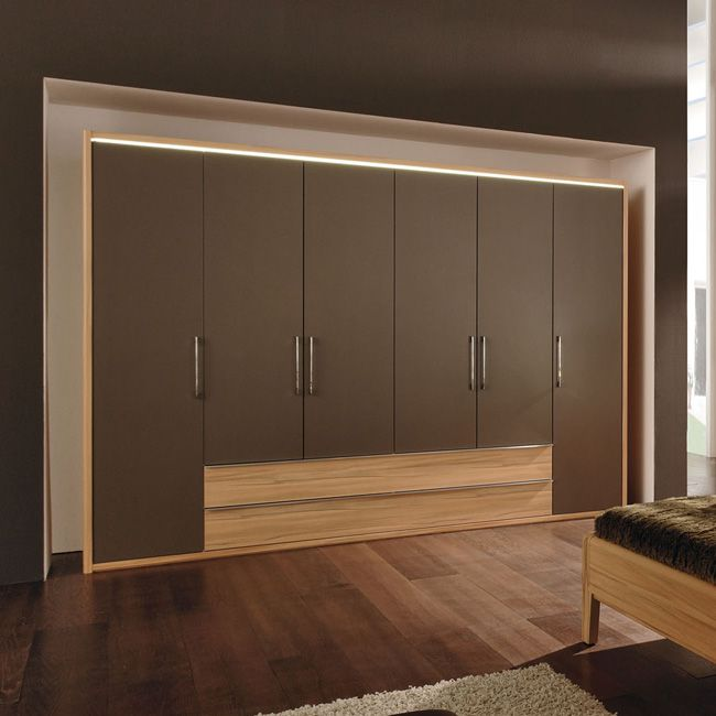 kleiderschrank la vida 300 mit schubladen cappuccino. Black Bedroom Furniture Sets. Home Design Ideas
