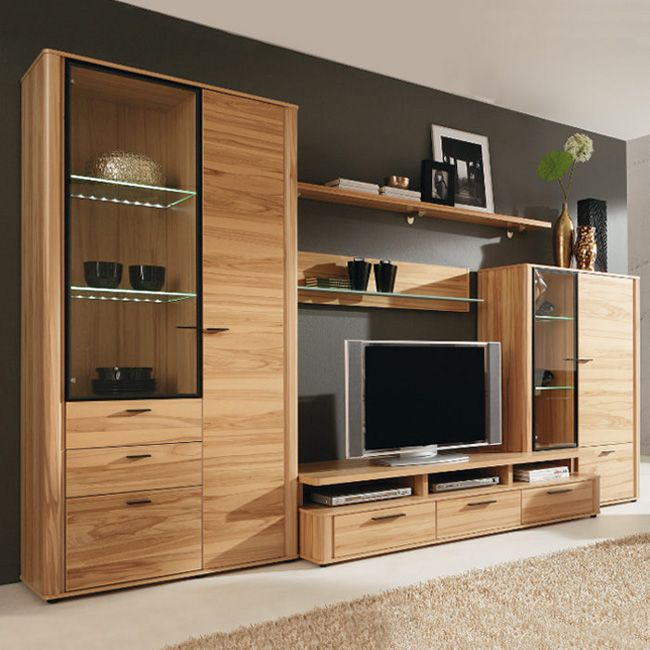 wohnwand toronto dietze 5 teilig kernbuchedekor. Black Bedroom Furniture Sets. Home Design Ideas