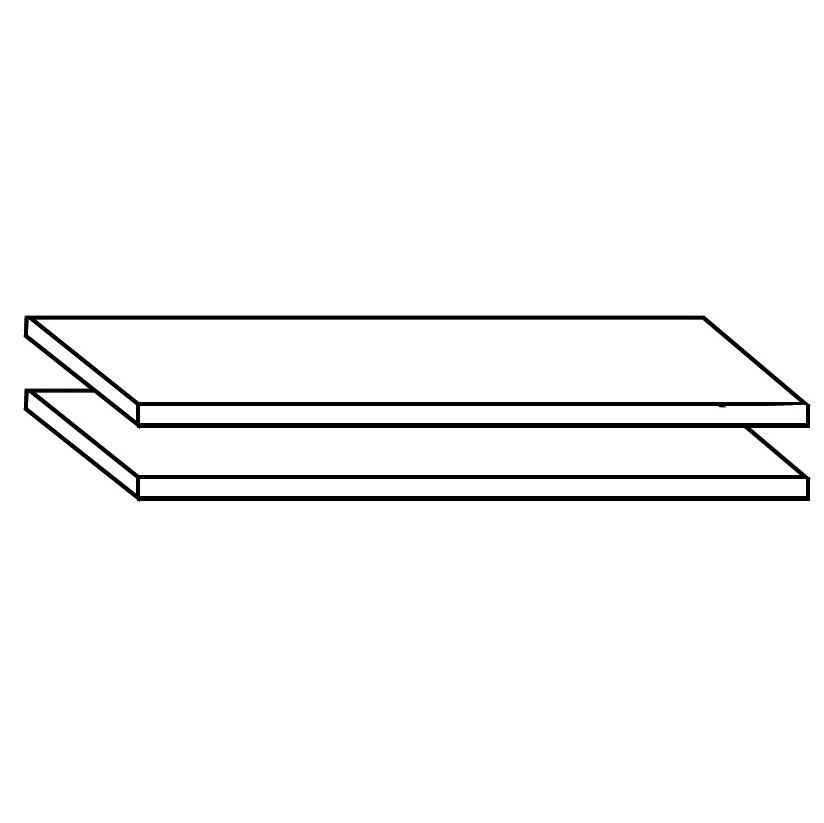 Dielenschrank Ayana-Zubehör – Zwei Einlegeböden – Massivholz – Kernbuche massiv, gewachst, Jung & Söhne günstig kaufen