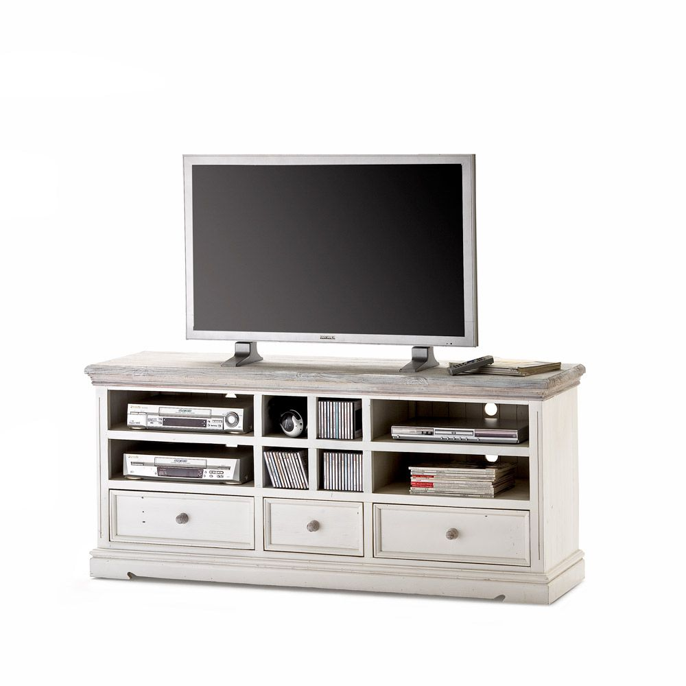 tv unterschrank opera ii kiefer massiv wei. Black Bedroom Furniture Sets. Home Design Ideas