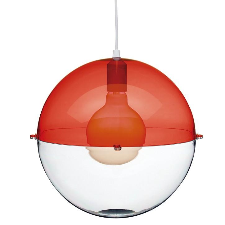 EEK A++, Pendelleuchte Orion  – 1-flammig – Kunststoff – Rot-Transparent, Koziol online kaufen
