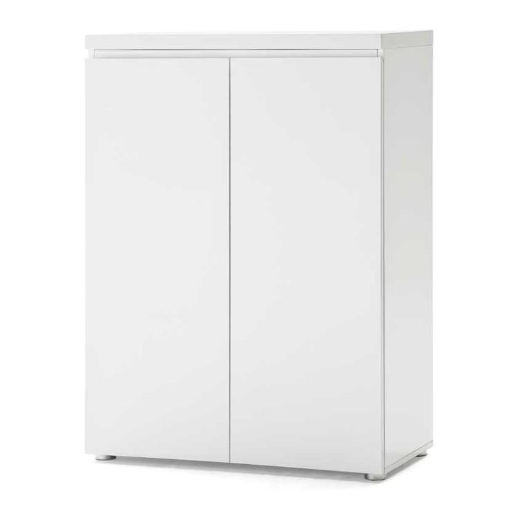 Aktenschrank Paddington - 3 Ordnerhöhen - Hochglanz Weiß lackiert