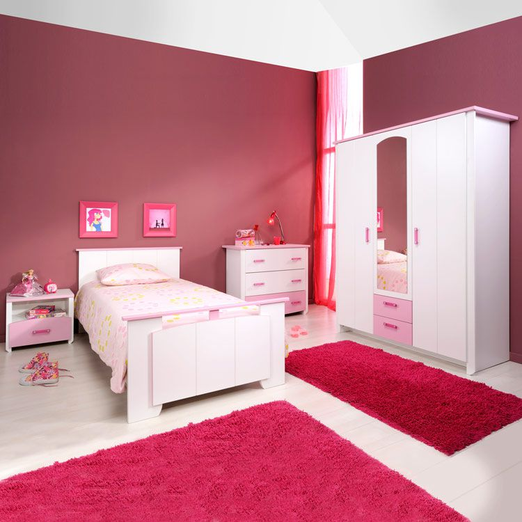 Jugendzimmer set biotiful 4 teilig bett for Meubles weiss