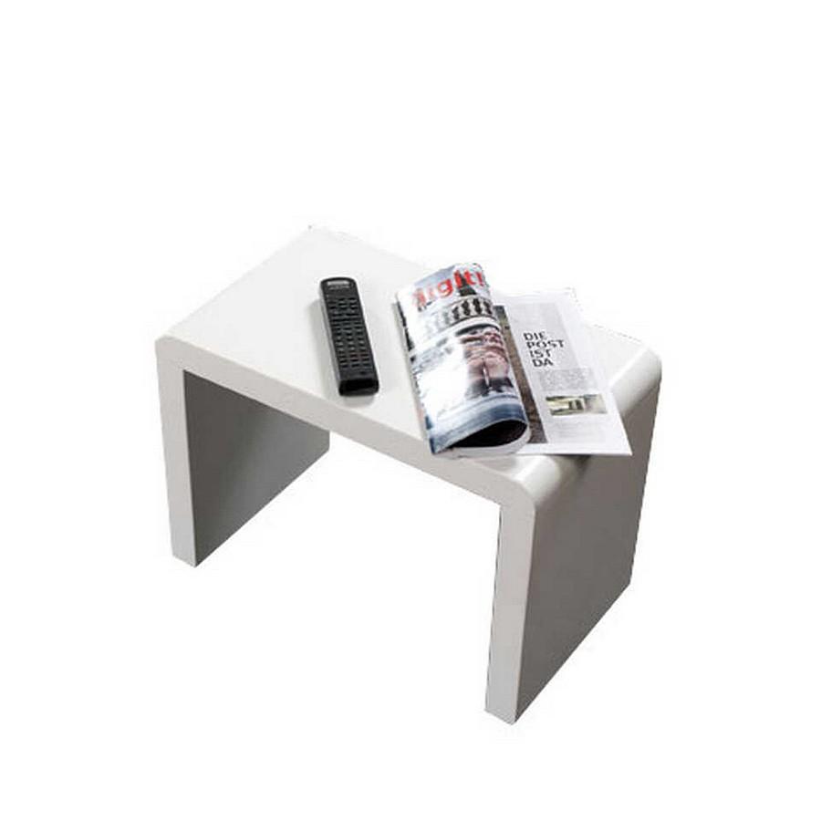 Beistelltisch Barinas - Hochglanz Weiß - Groß, Home Design