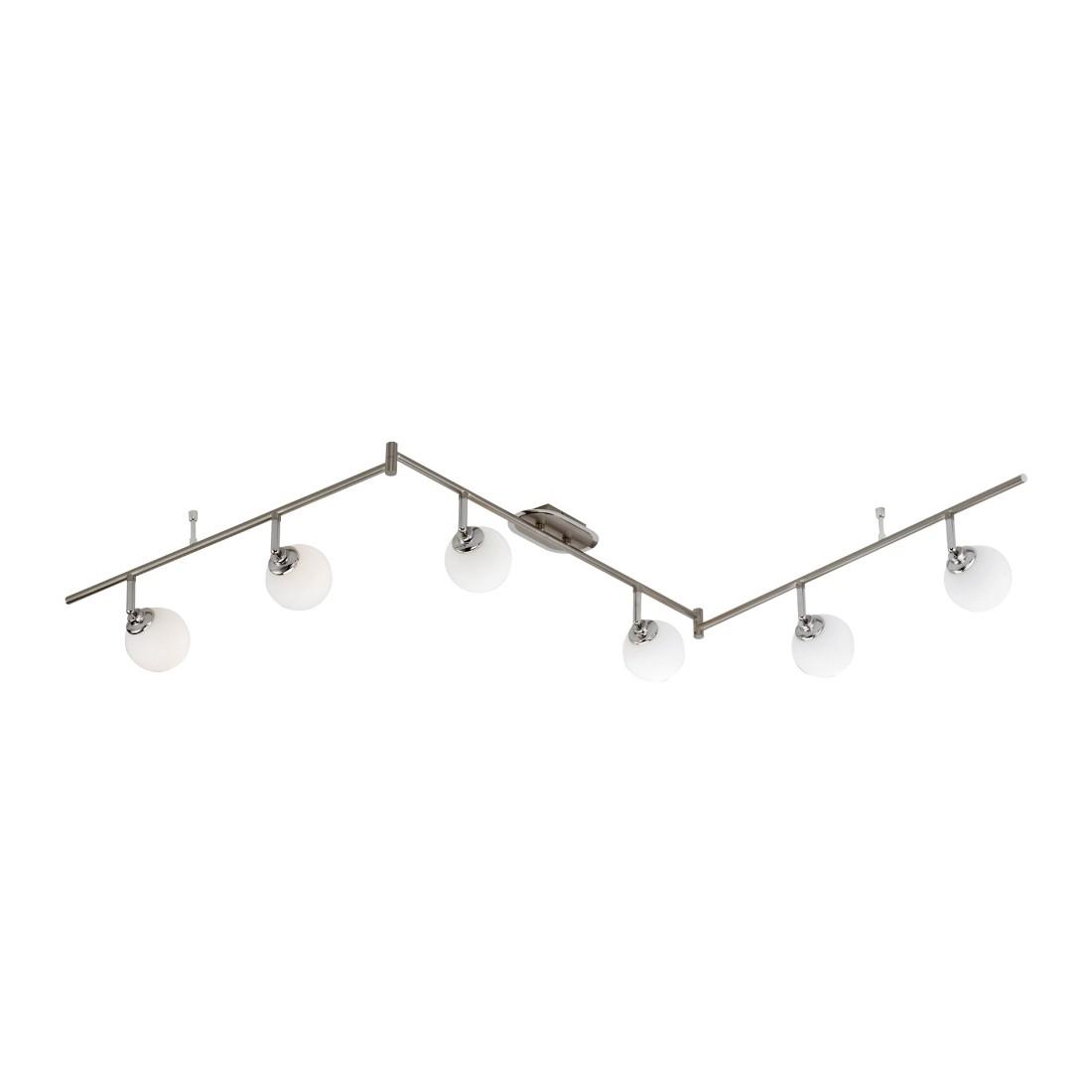 Deckenleuchte Bola – 6-flammig, modern – Dreh- und schwenkbar – Stahl, Opalglas – metallfarben, weiß, Paul Neuhaus jetzt kaufen