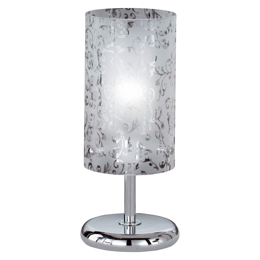 Tischleuchte Imara ● 1-flammig ● Glas mit Verzierungen/Metall ● weiß/chrom- Paul Neuhaus A++