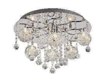 EEK B, Deckenleuchte Kallisto – 6-flammig/21x LED – mit Funksteuerung – Metall/Glas – chrom/transparent, Paul Neuhaus günstig kaufen