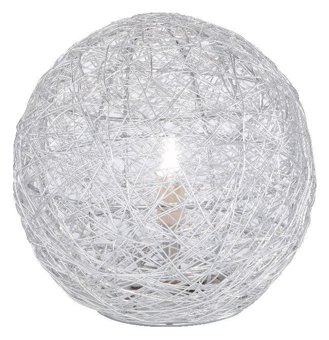 Bodenleuchte Womble Silber ● aus Aluminiumgeflecht- Paul Neuhaus B