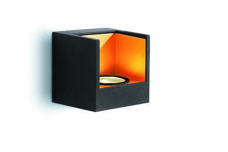 EEK A+, Wandleuchte Energiespar – 2 LED Module – Schwarz/Gold, Philips bestellen