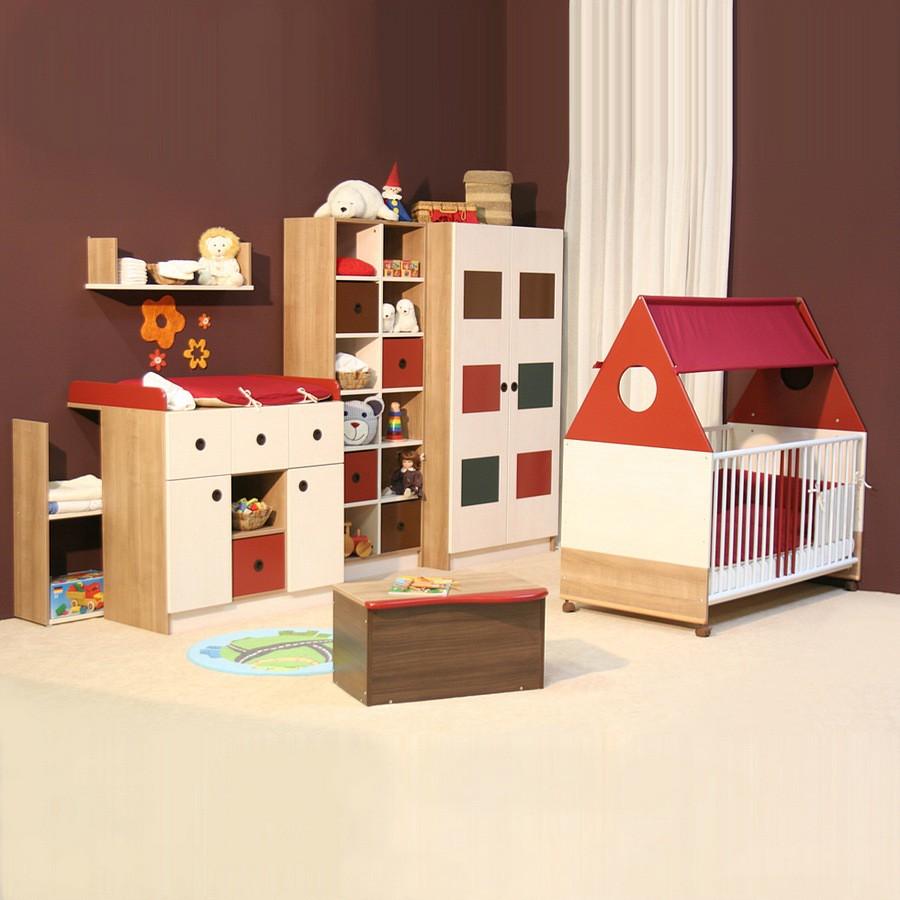 piccola sparset 2 tlg babybett wickelkommode verschiedene farben schoko nougat rot. Black Bedroom Furniture Sets. Home Design Ideas