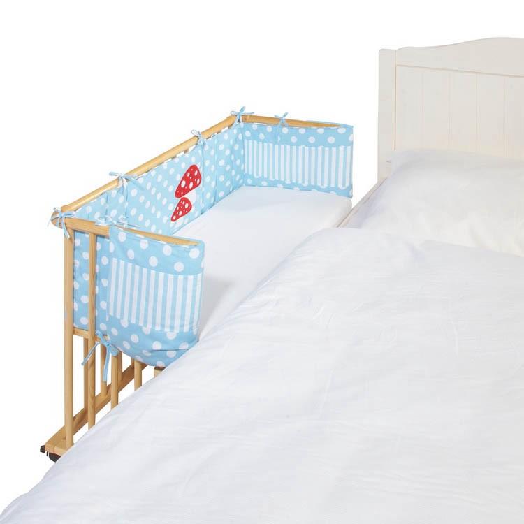 Nestchen Glückspilz - Für Anstellbett - Blau, Pinolino