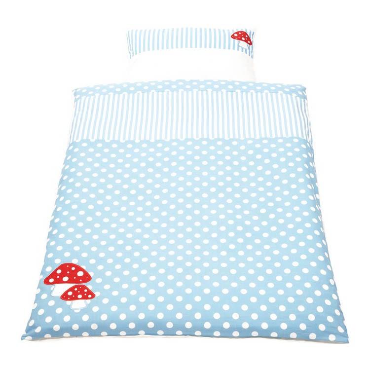 Babybettwäsche Glückspilz(2-teilig) – Decken- & Kissenbezug – rosa, Pinolino günstig